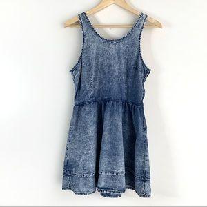 Topshop Moto 100% Cotton Denim Dress, 8